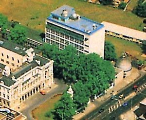 Aerial view of Physics Building