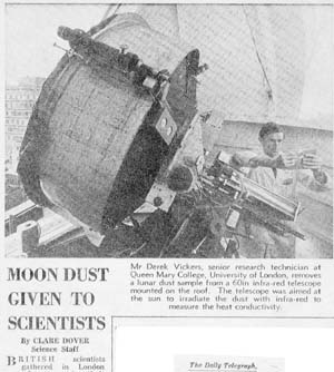 Telescope newspaper clipping