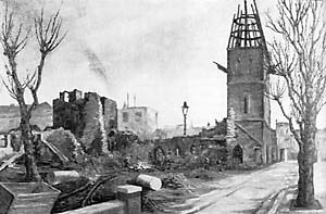 St Benet's church being demolished