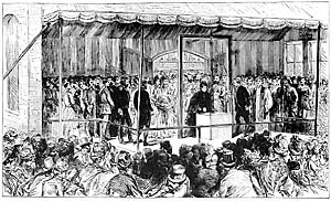 Queen Victoria laying the foundation stone of the Technical