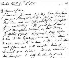 Elliot's handwriting