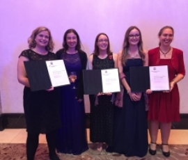 Dr Jeanne Wilson and Dr Marcella Bona collected QMUL's JUNO Champion Award last night at the IoP Awards Dinner.