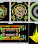ATLAS event display of circulating beam splash, LHC Run 2